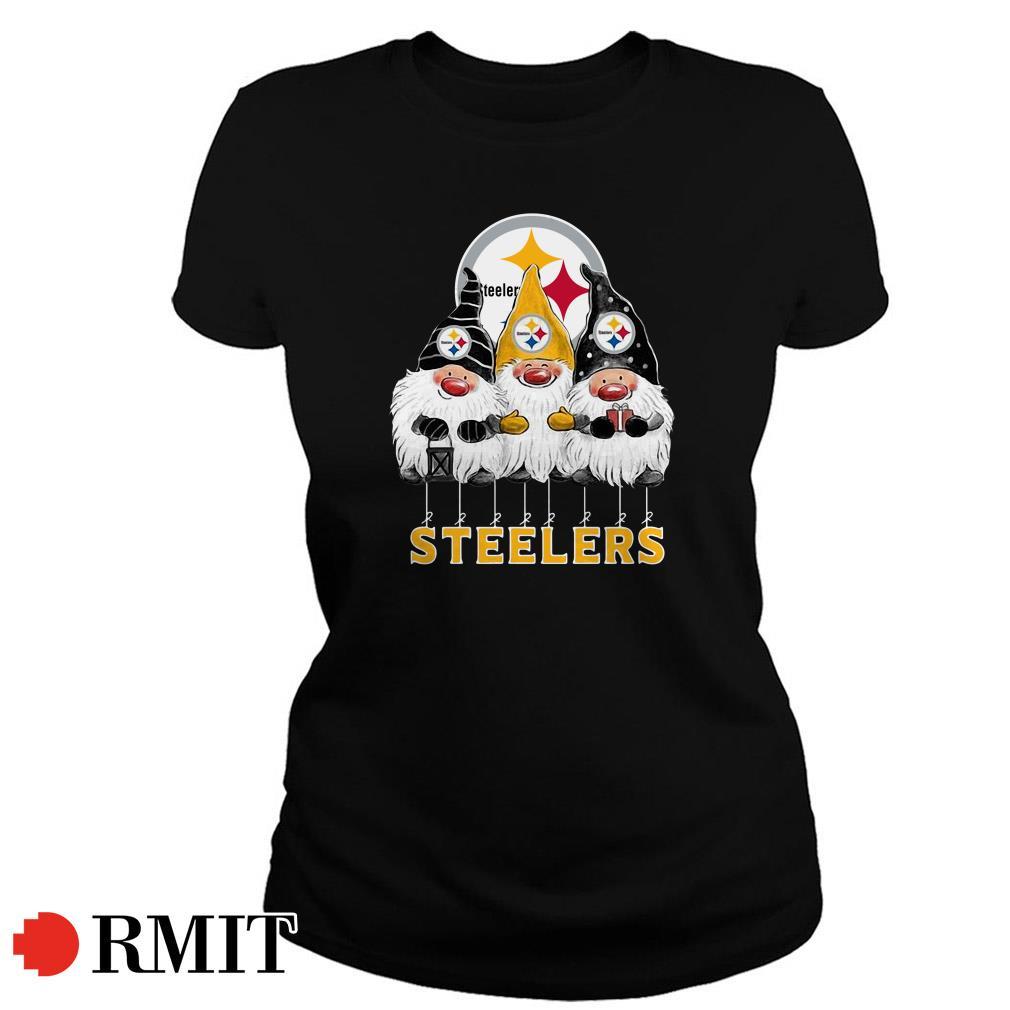 Pittsburgh Steelers Norway Christmas Gnomies elves fan Ladies Tee