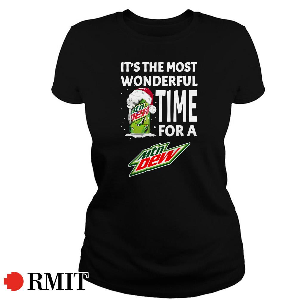 It's the most wonderful time for a Mtn Dew Christmas Ladies Tee