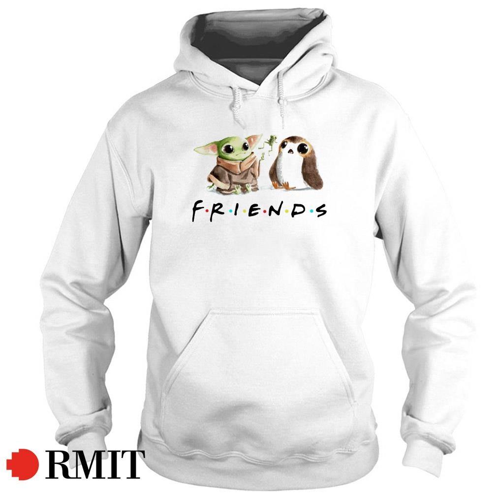 Yoda Frog and Porg friends Hoodie
