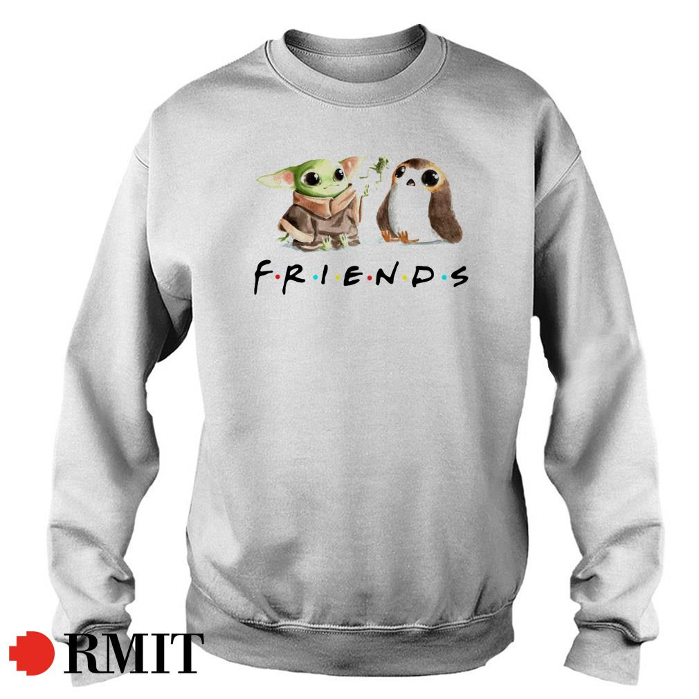 Yoda Frog and Porg friends Sweater