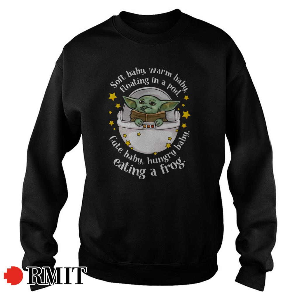 Yoda soft baby warm baby floating in a pod cute baby hungry baby Sweater