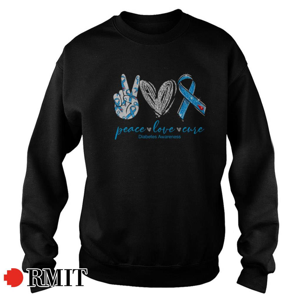 Peace love cure Diabetes Awareness shirt