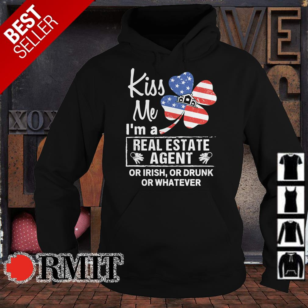 Kiss me I'm a Real Estate Agent Clover American shirt