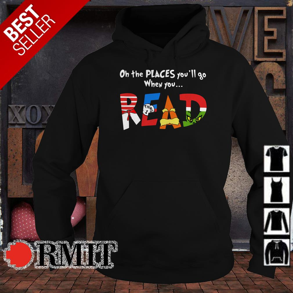 On the places you'll go when you read shirt from Nemoshirt