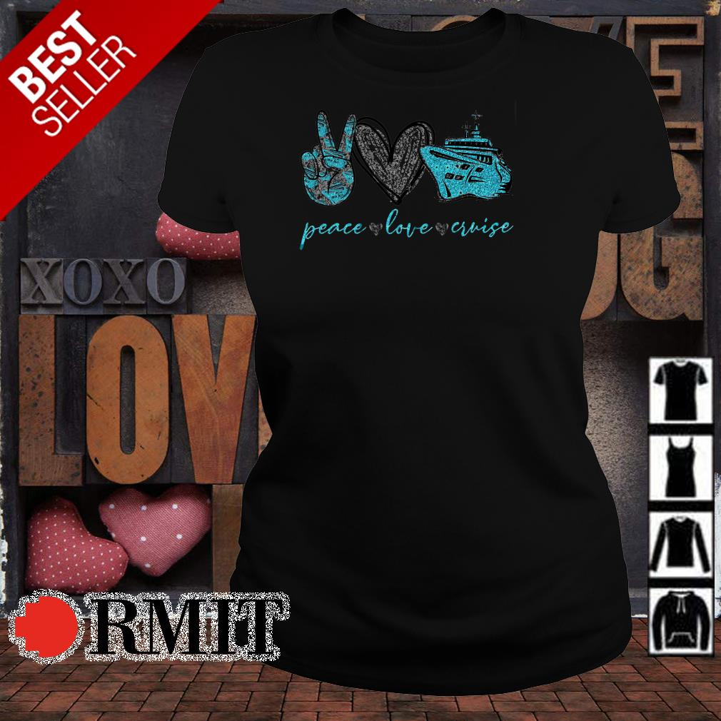 Autism Awareness peace love and cruise shirt from Nicefrogtees