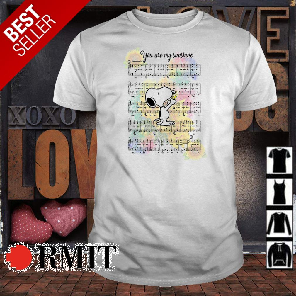 Snoopy Dog you are my sunshine shirt from Nemoshirt