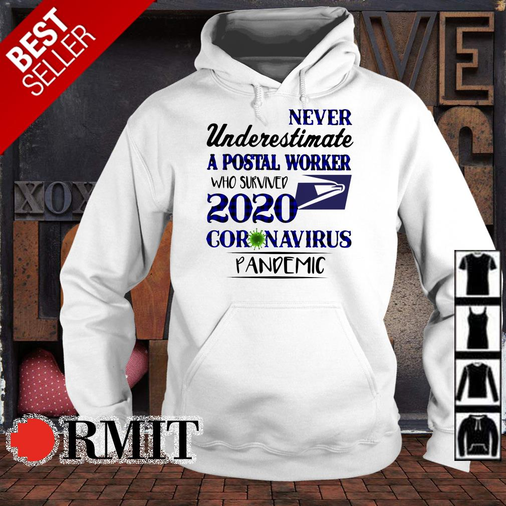 Never underestimate a Postal Worker who survived 2020 coronavirus pandemic shirt