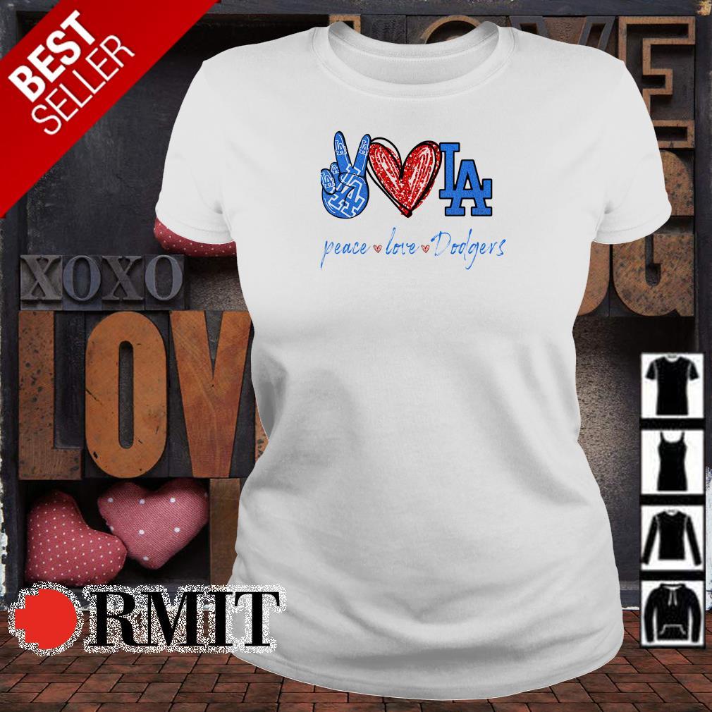 Peace love Los Angeles Dodgers diamond shirt
