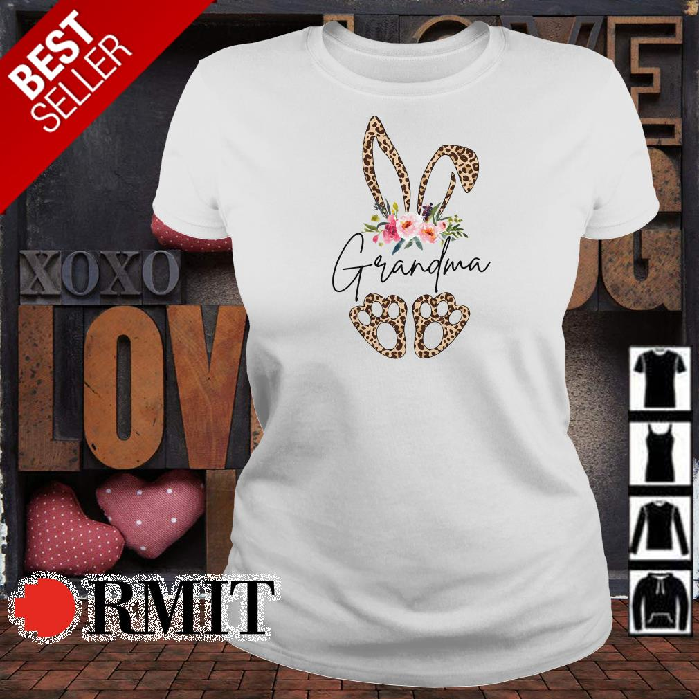Rabbit leopard Grandma flower shirt
