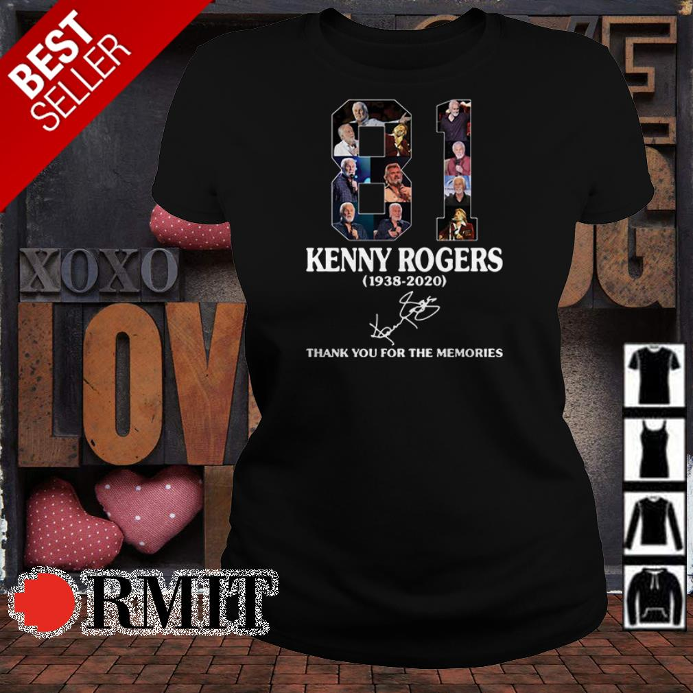 Kenny Rogers 1938 2020 thank you for the memories signature shirt