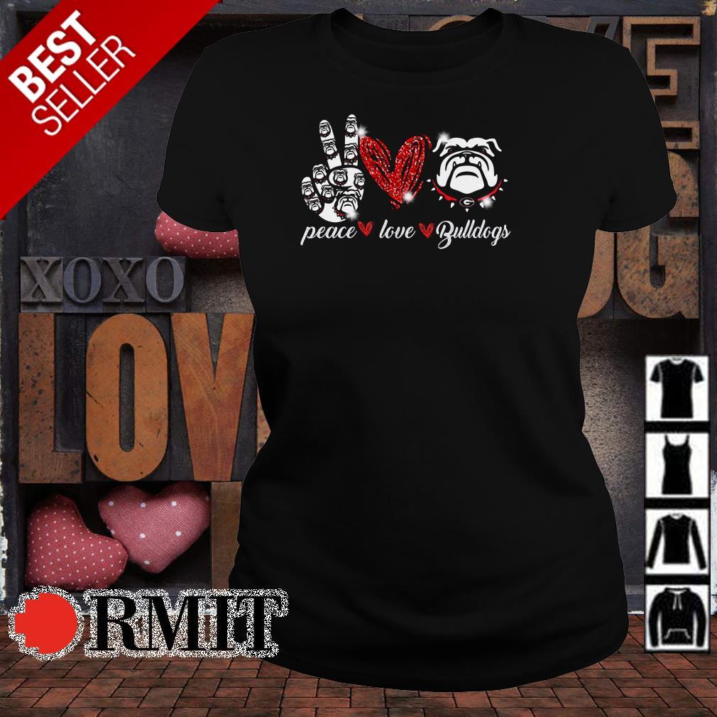 Peace love Georgia Bulldogs shirt