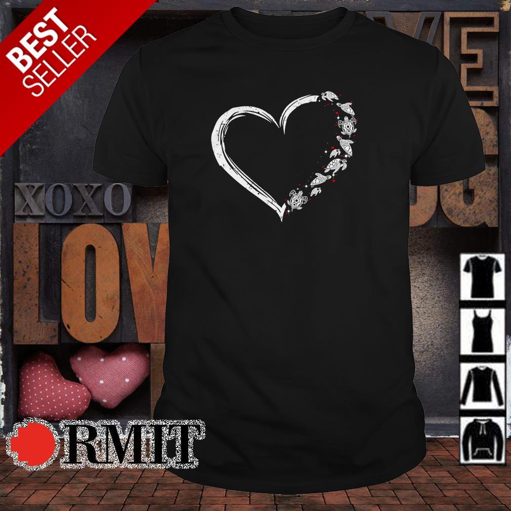 Heart love turtles shirt