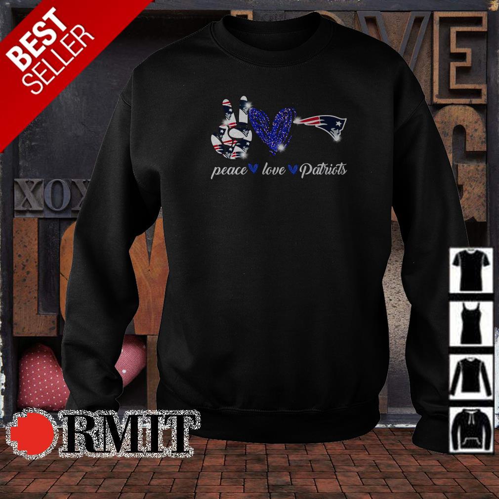 Peace love New England Patriots shirt