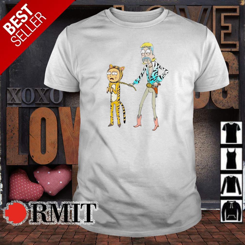 Morty the tiger and Rick the cowboys shirt