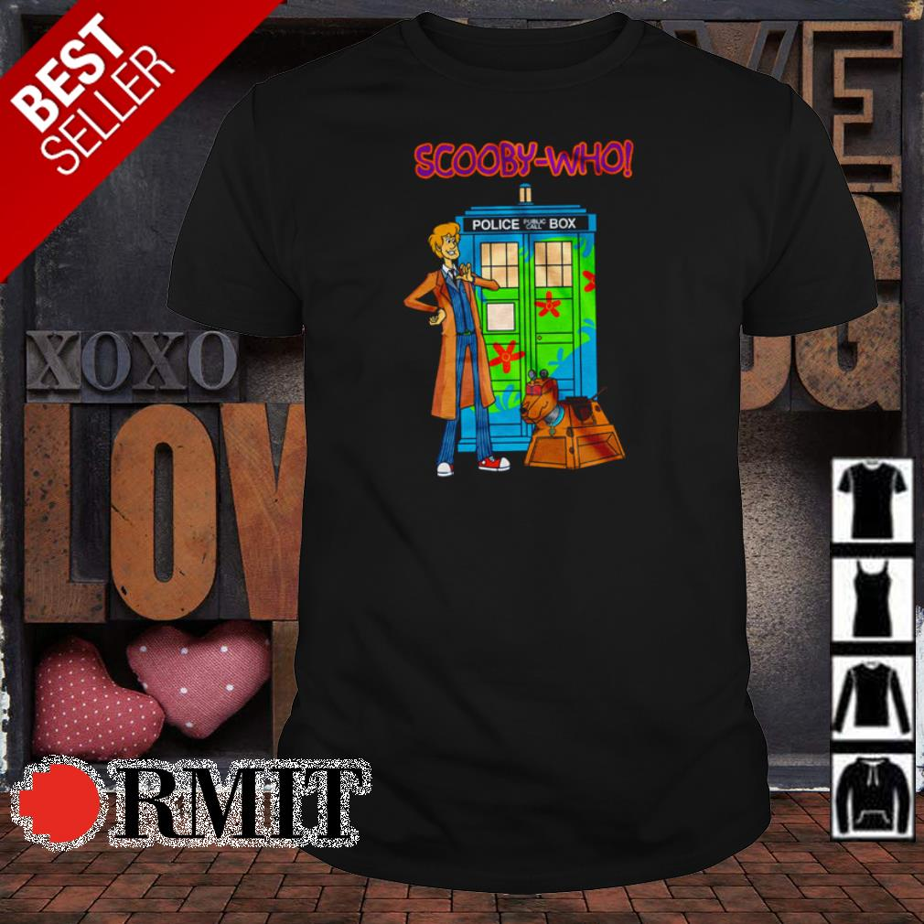 Shaggy and Scooby-Who Police Box Public Call shirt