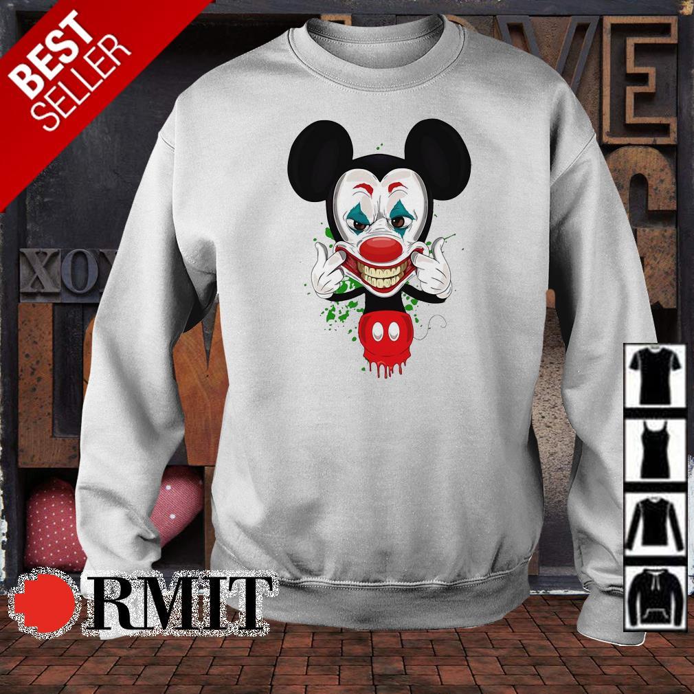 Mickey Mouse in Joker smile shirt