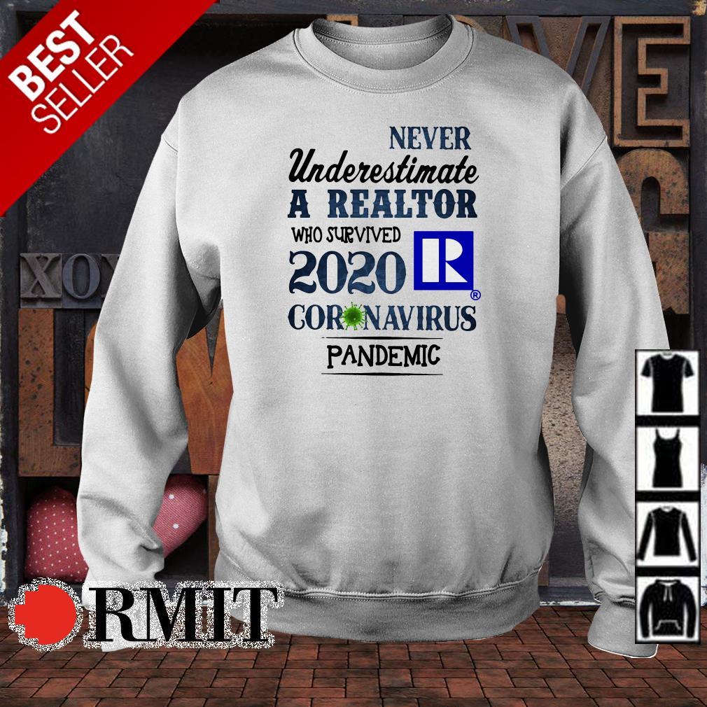 Never underestimate a realtor who survived 2020 coronavirus pandemic shirt