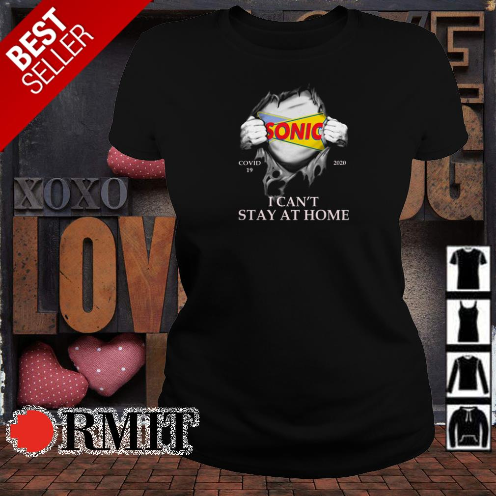 Sonic covid19 2020 I can't stay at home shirt