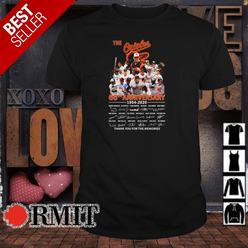 Baltimore Orioles 66th anniversary thank you for the memories shirt