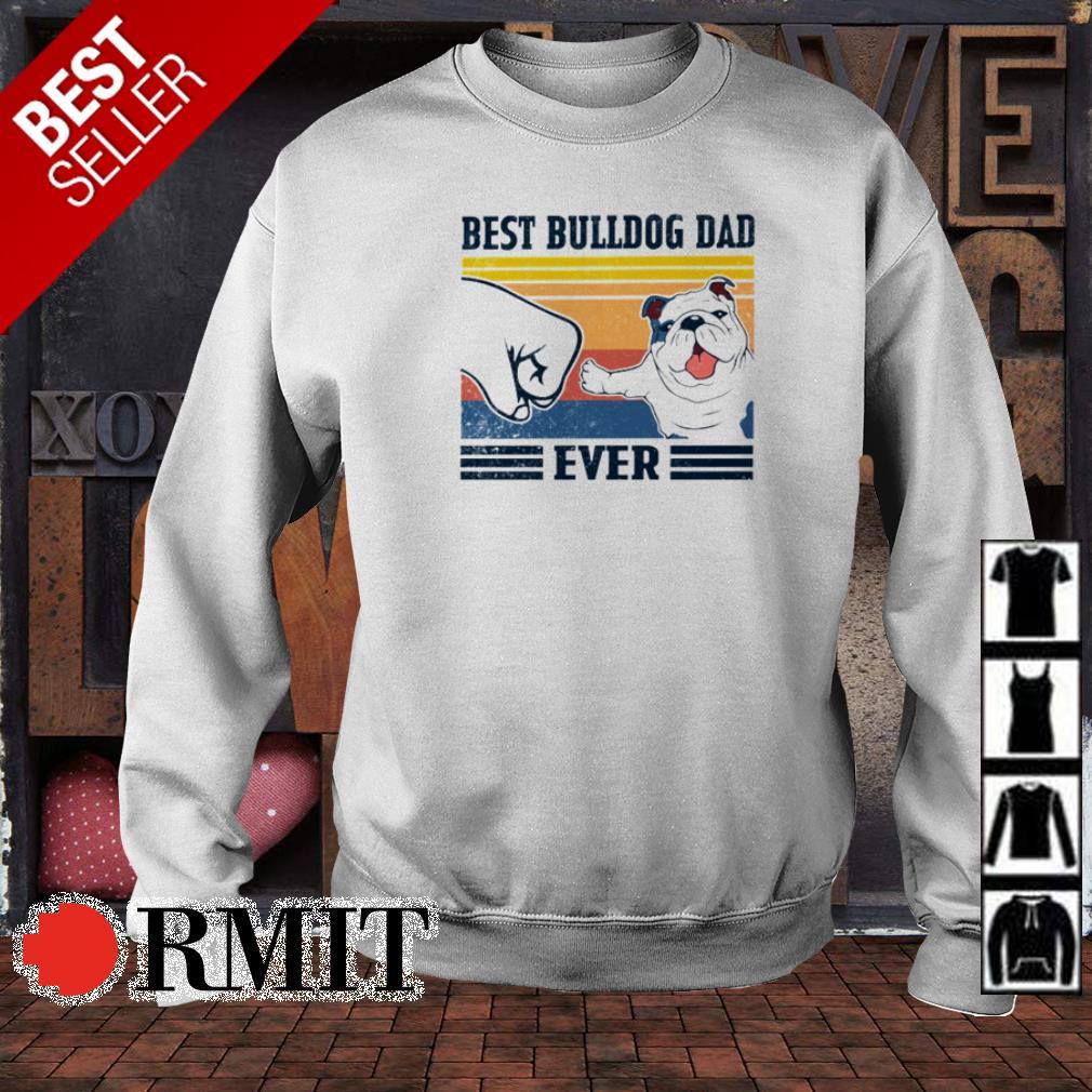Best Bulldog dad ever vintage shirt