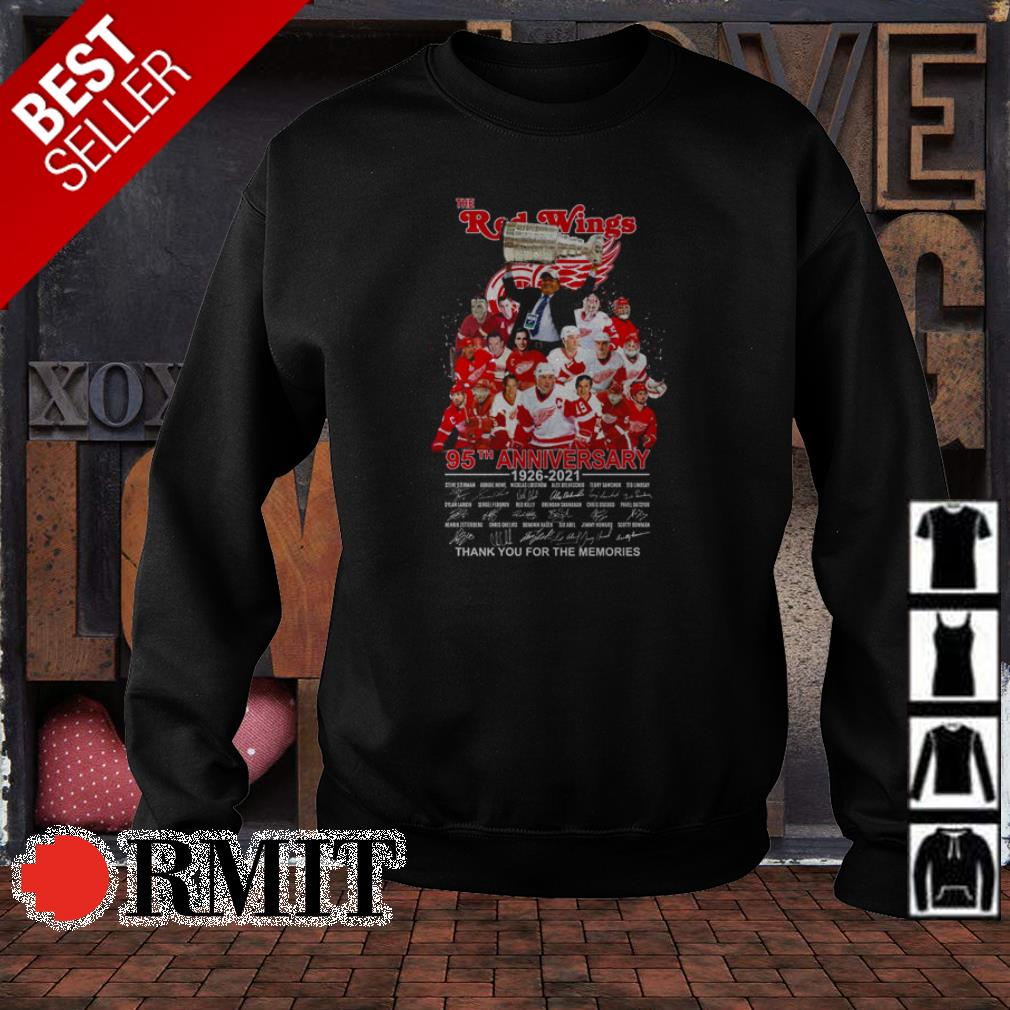 The Detroit Red Wings 95th anniversary thank you for the memories shirt