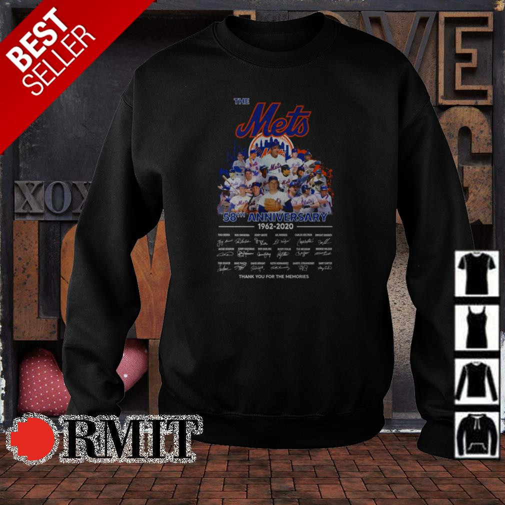 The New York Mets 58th anniversary thank you for the memories shirt
