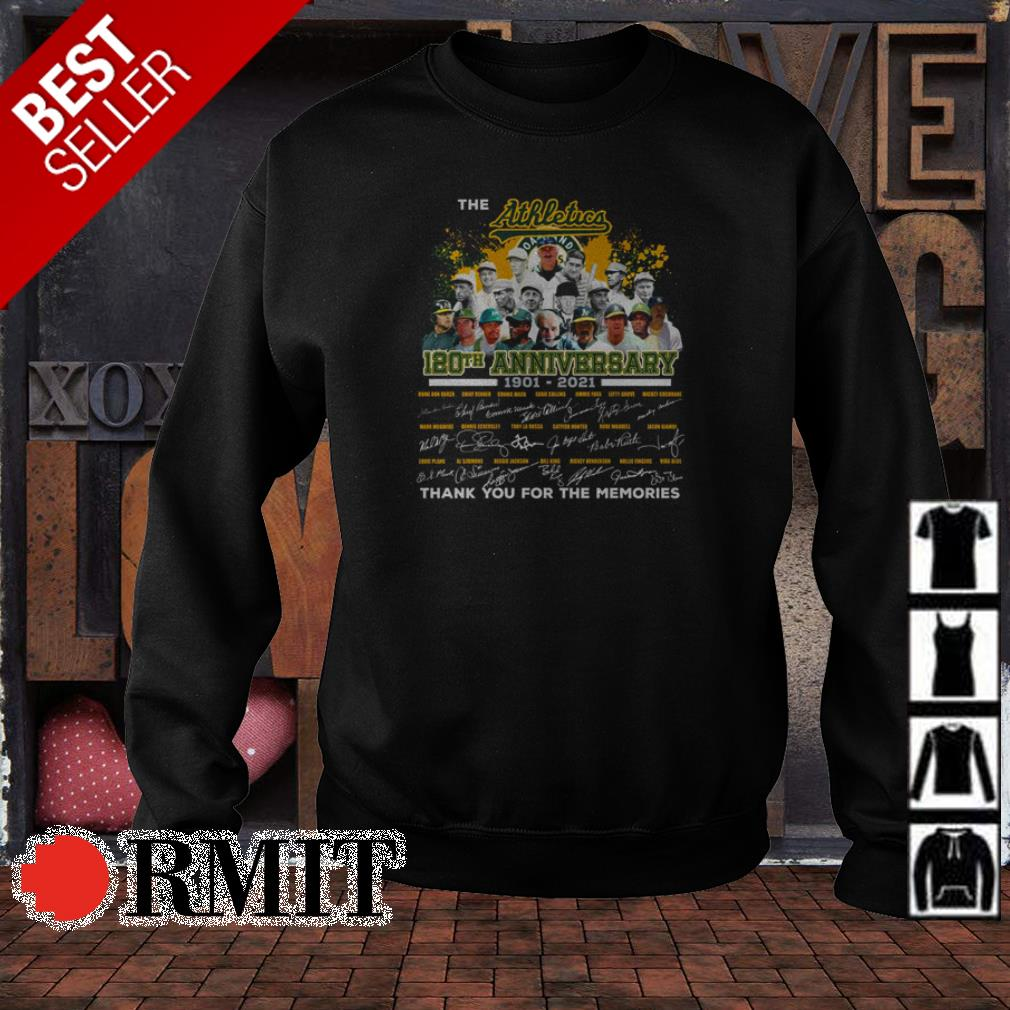 Oakland Athletics 180th anniversary thank you for the memories shirt