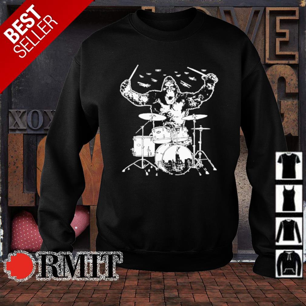 Bigfoot playing drum s sweater1