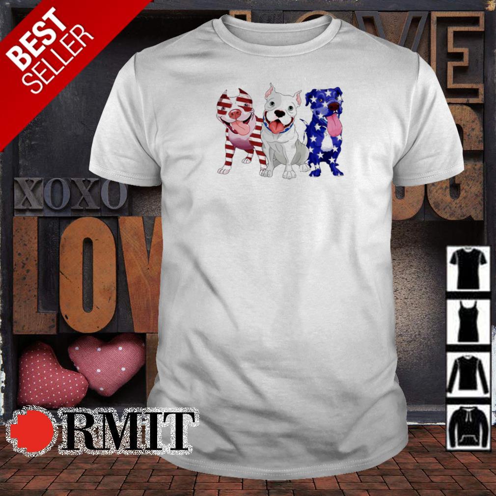 Pitbull America Flag 4th of July shirt