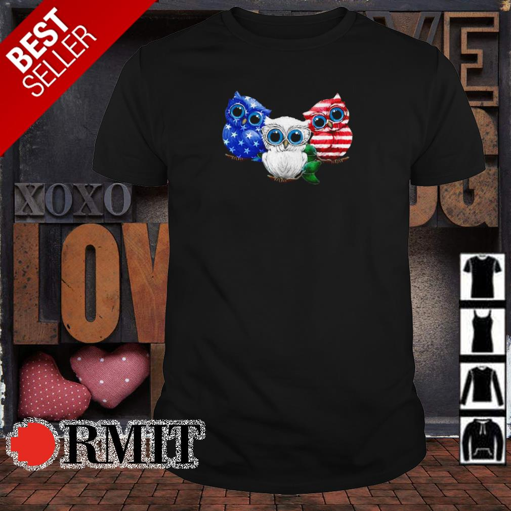 Official Owl American Flag shirt