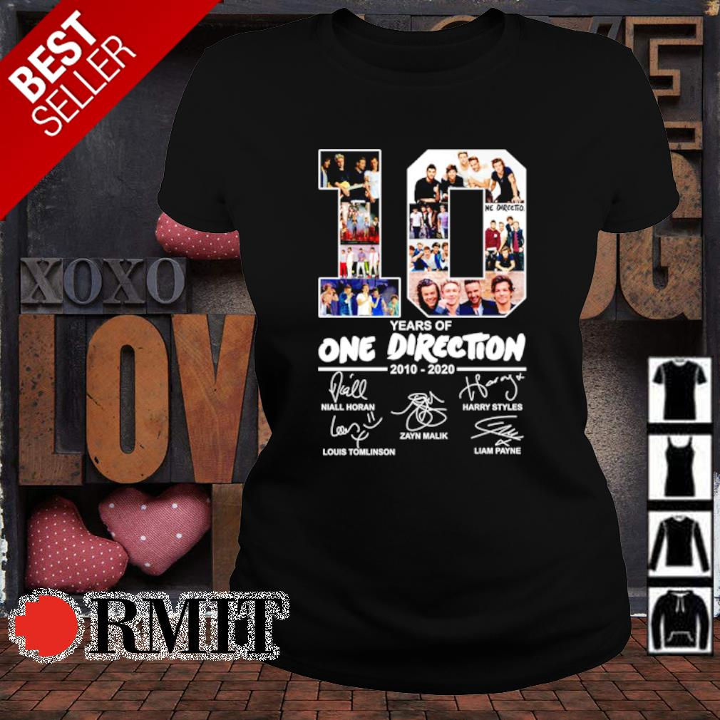 10 years of One Direction 2010 2020 signature s ladies-tee1