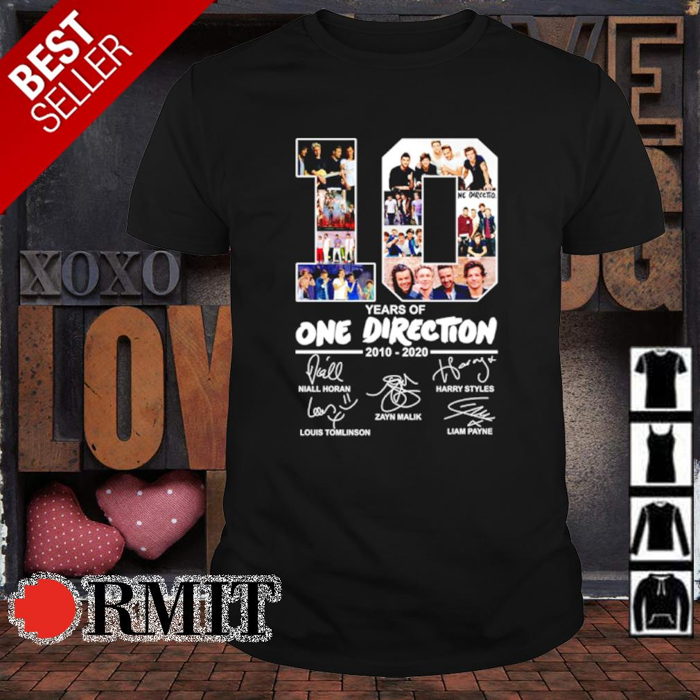 10 years of One Direction 2010 2020 signature shirt