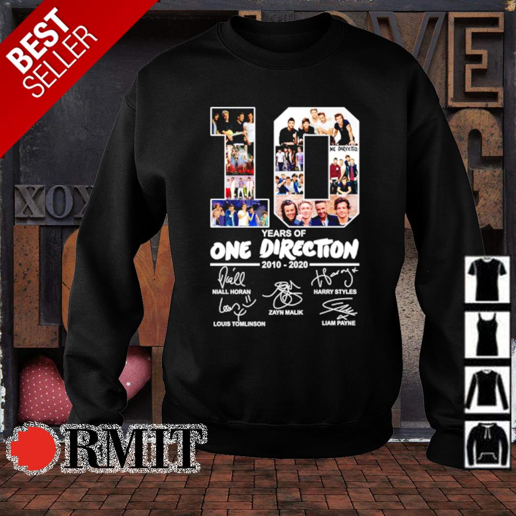 10 years of One Direction 2010 2020 signature s sweater1