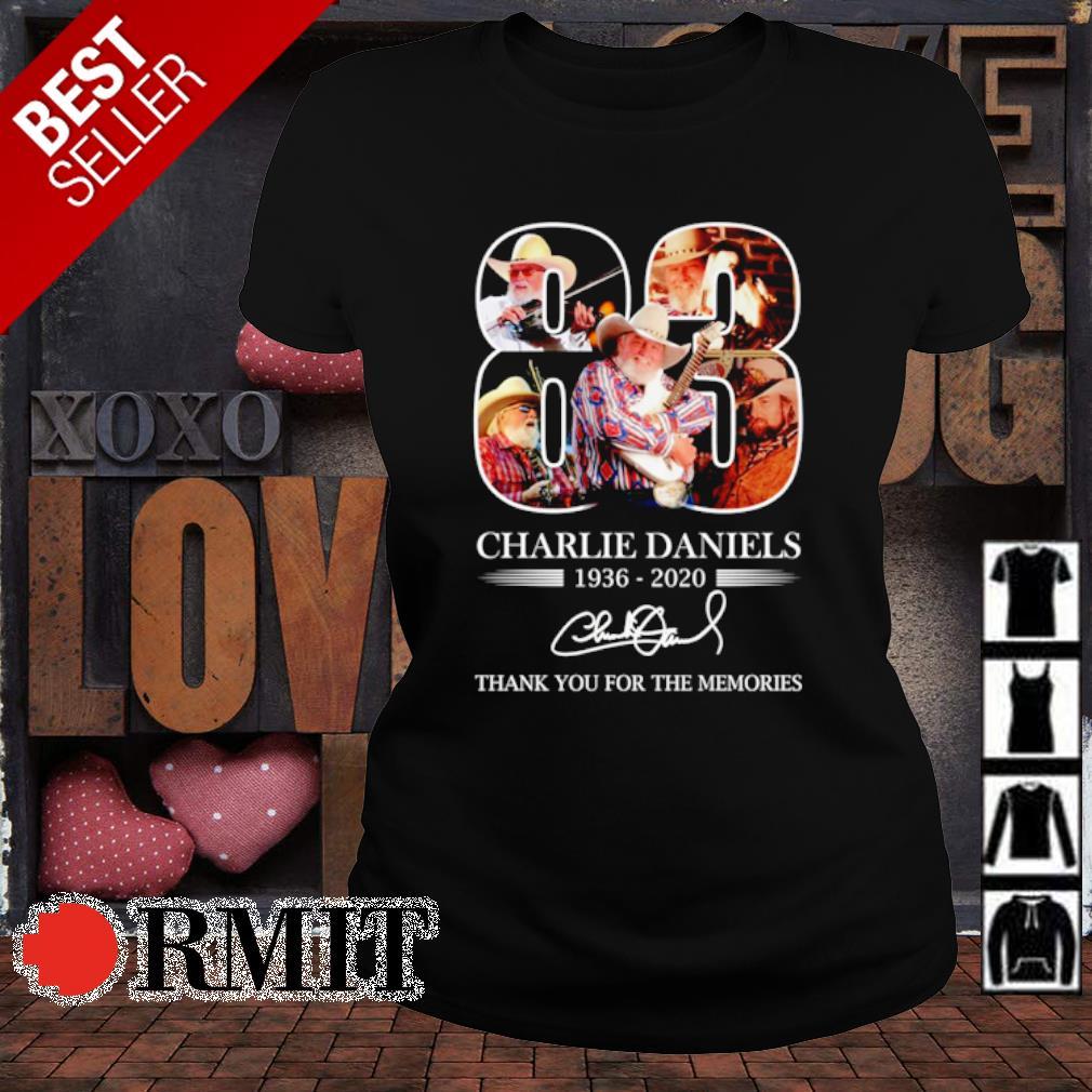 83 years of Charlie Daniels 1936 2020 signature s ladies-tee1