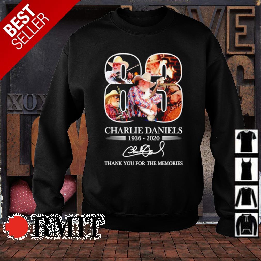 83 years of Charlie Daniels 1936 2020 signature s sweater1