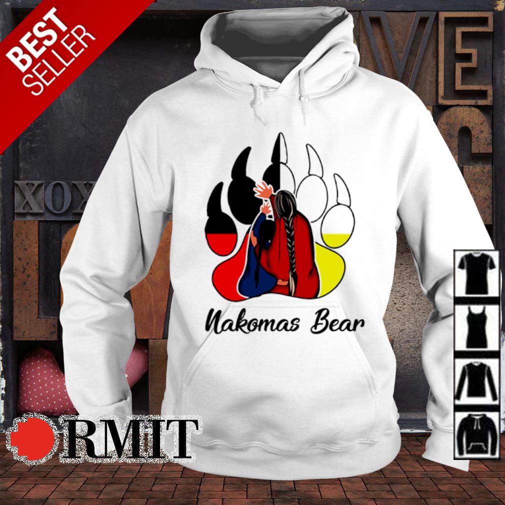 Native American bear paw Nakomas Bear s hoodie