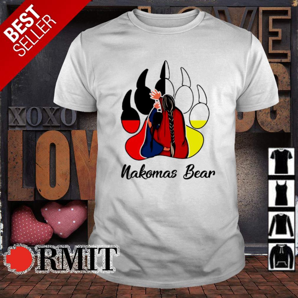 Native American bear paw Nakomas Bear shirt