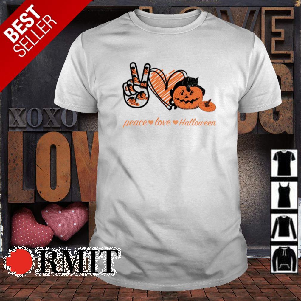 Pumpkin Peace love Halloween shirt