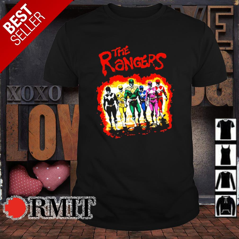 The Power Rangers characters shirt