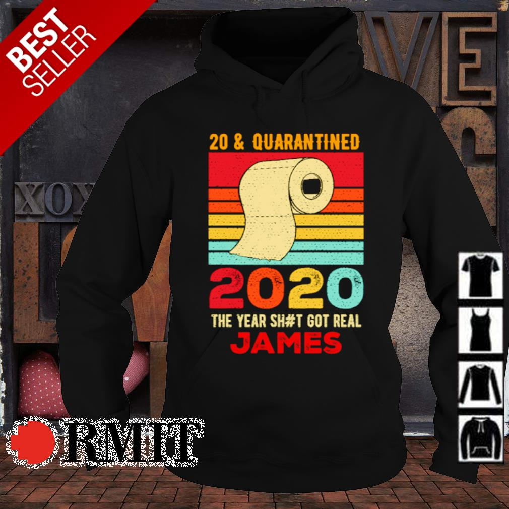 Toilet paper 20 and quarantined 2020 the year shit got real James vintage s hoodie1