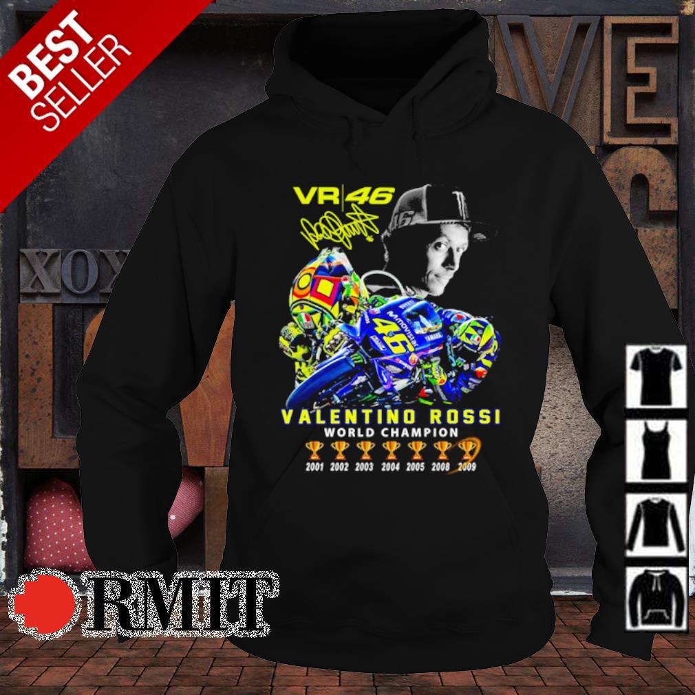 VR46 Valentino Rossi world champion signature s hoodie1