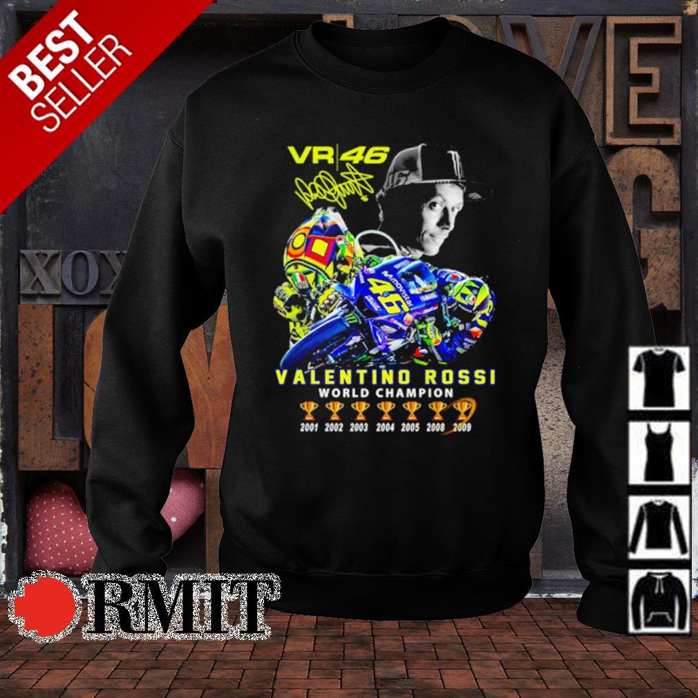 VR46 Valentino Rossi world champion signature s sweater1