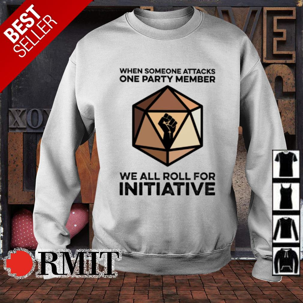 We someone attacks one party member we all roll for initiative s sweater