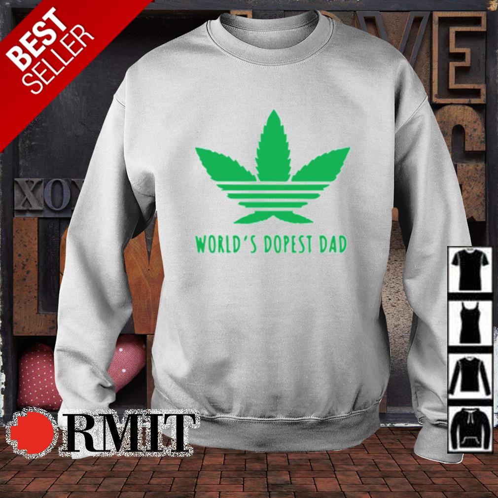 Weed world's dopest dad s sweater