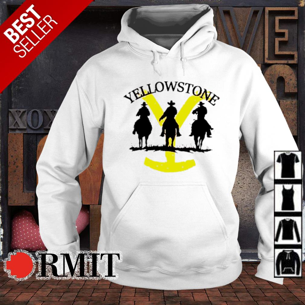 Western cowboy on horse silhouette Yellowstone s hoodie