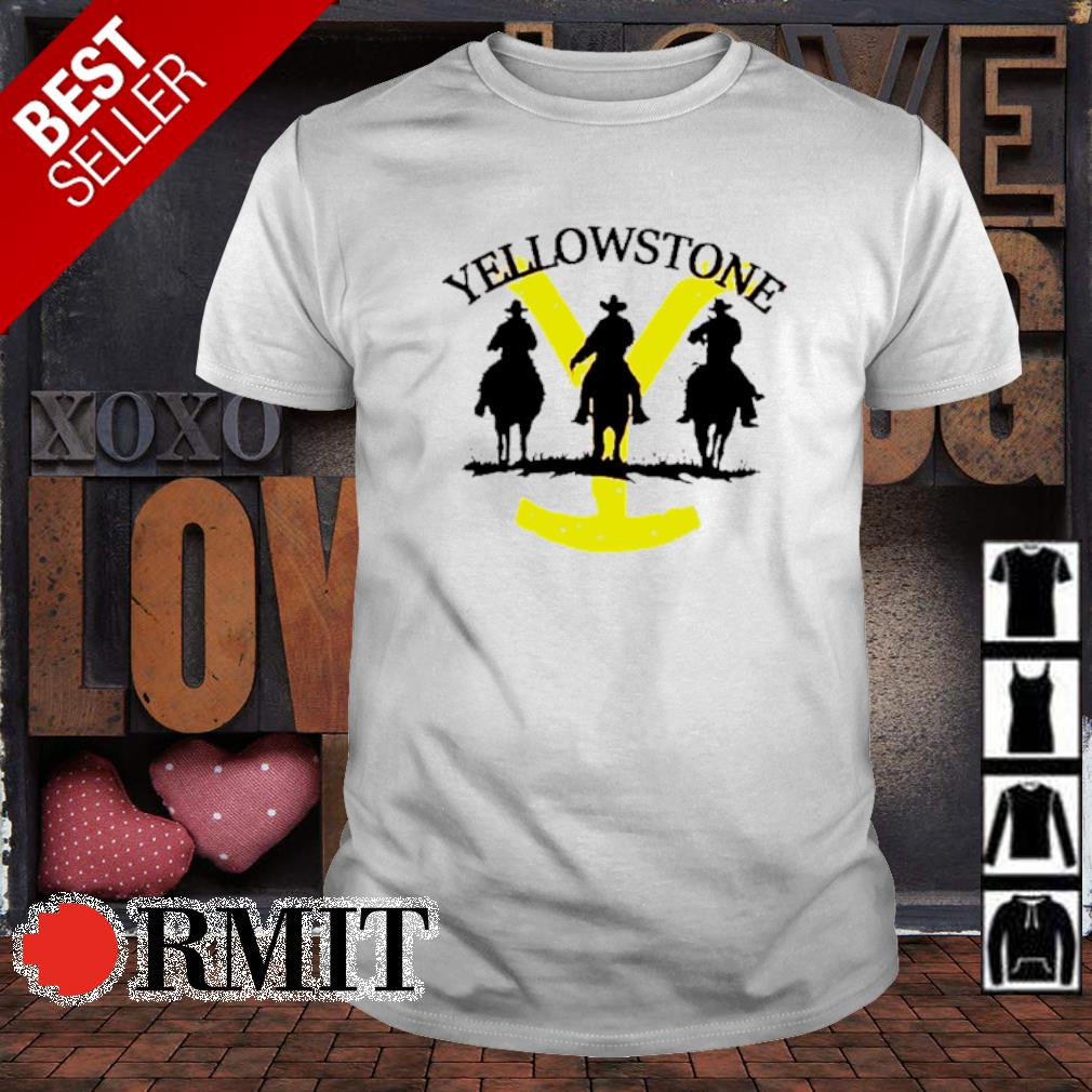 Western cowboy on horse silhouette Yellowstone shirt