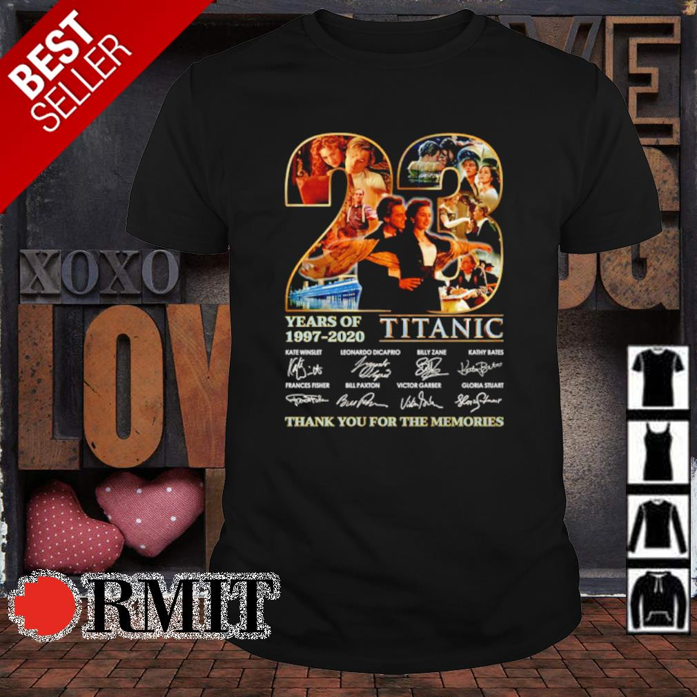 23 years of Titanic 1997 2020 thank you for the memories signature shirt