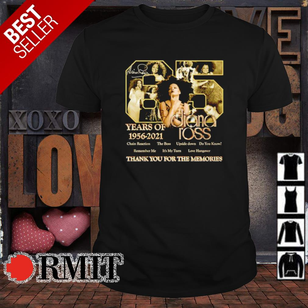 65 years of Diana Ross thank you for the memories shirt