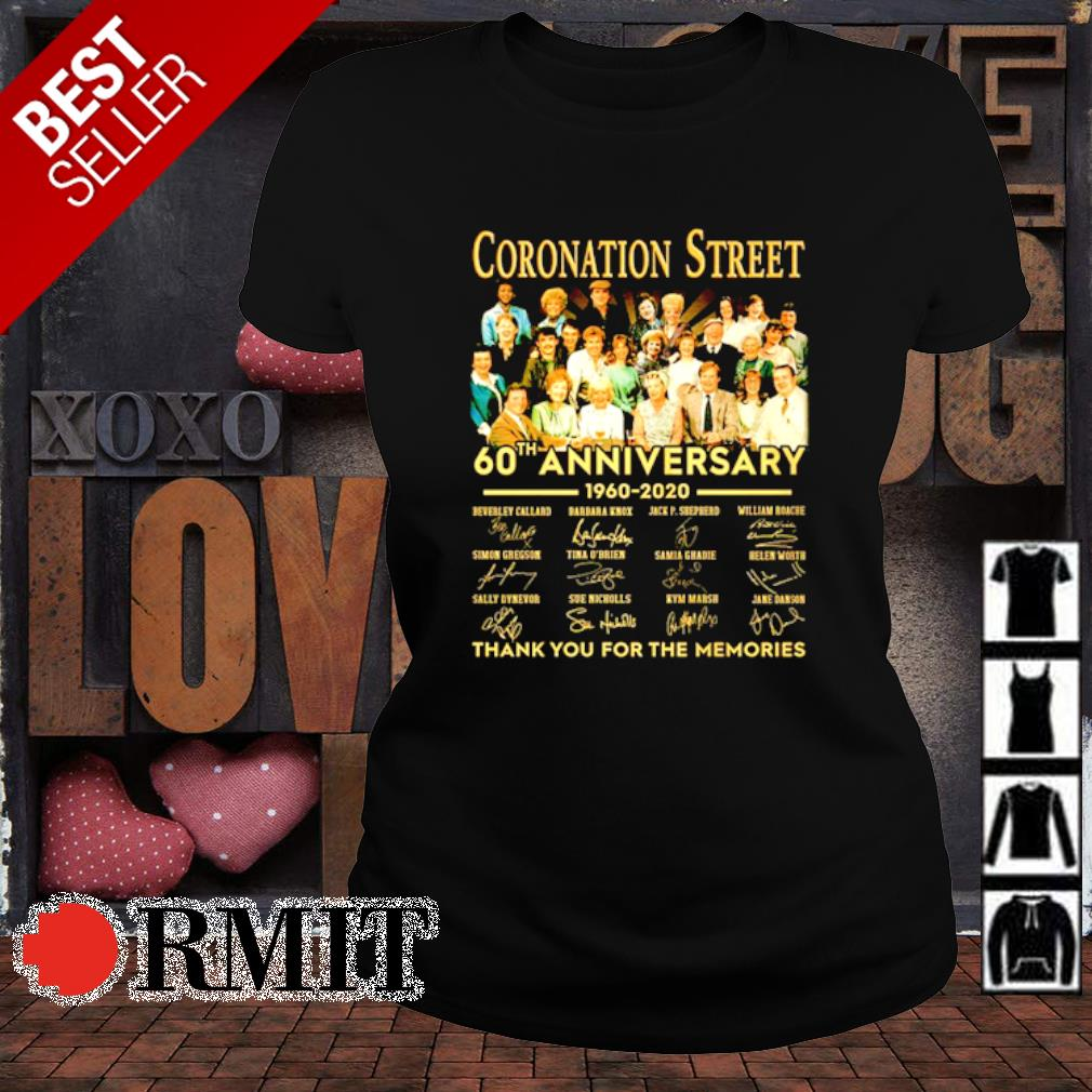 Coronation Street 60th Anniversary thank you for the memories s ladies-tee1