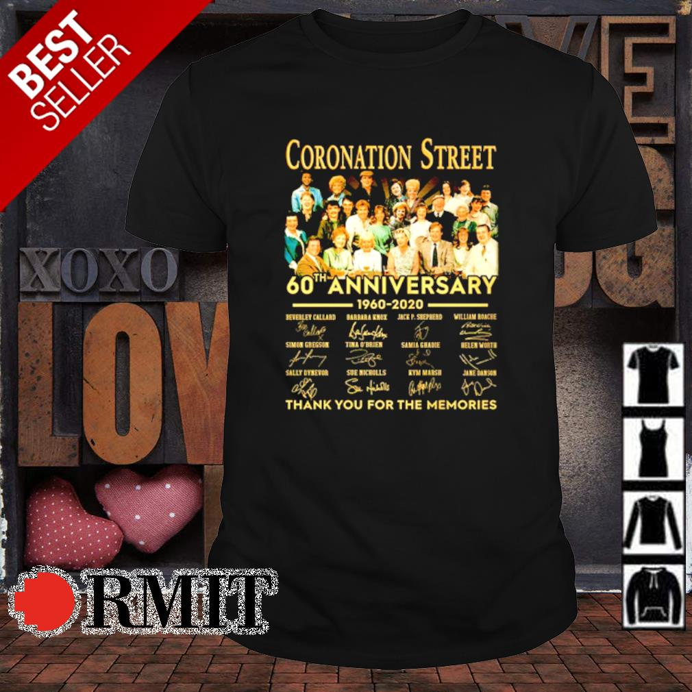Coronation Street 60th Anniversary thank you for the memories shirt